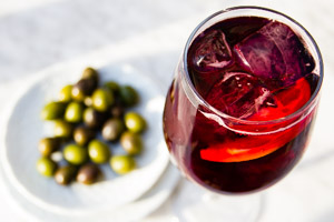 Sangria and olives - Tapas tour