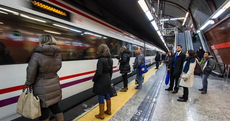Metro station in Madrid