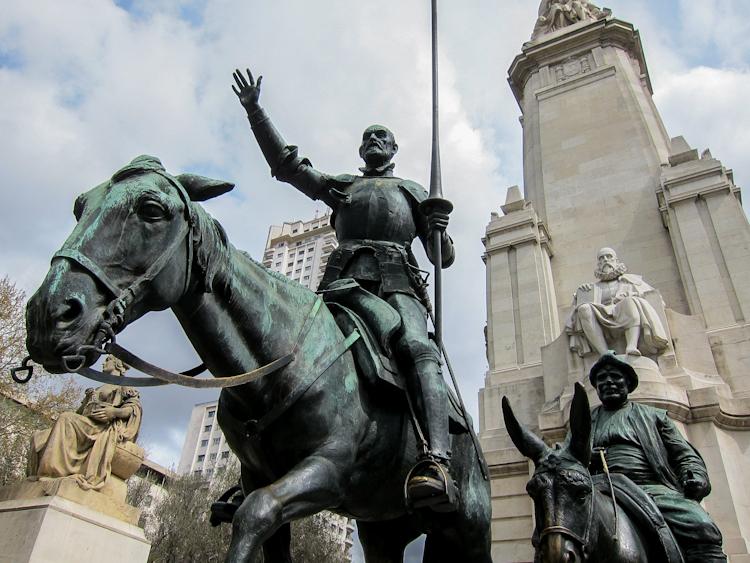 Plaza de espa a quijote monument - Hotel el quijote madrid ...