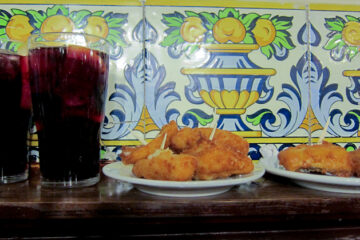 """""""Sangria and cod croquettes"""""""