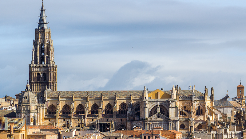 Toledo Cathedral from the panoramic view point