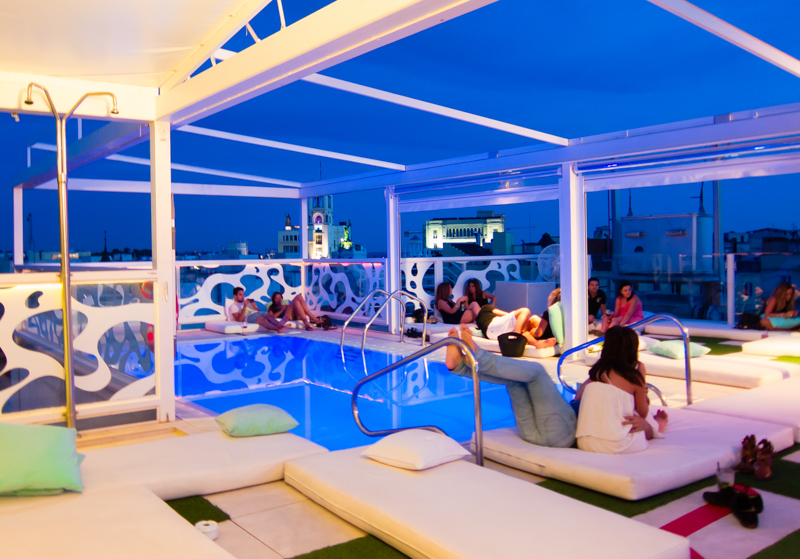 Rooftop bar with swiming pool