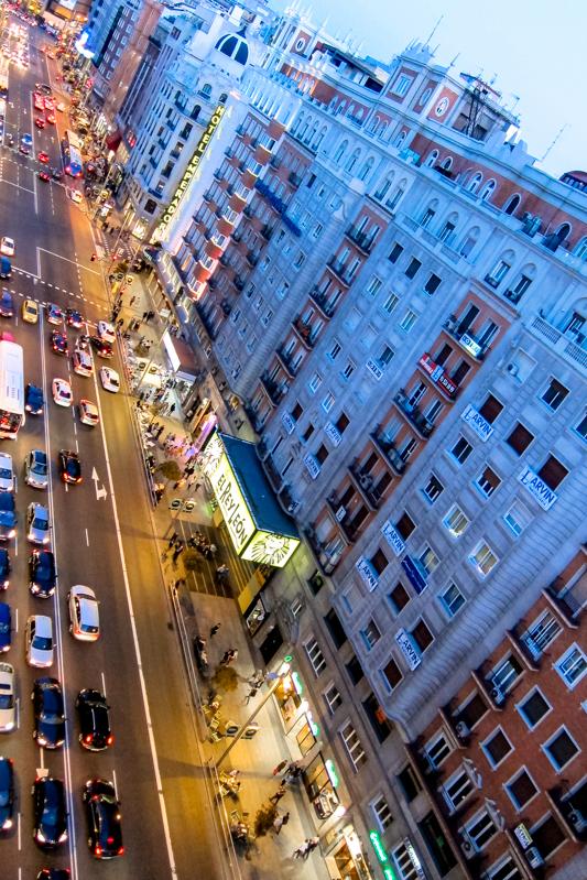 Vistas De La Gran Via Terraza Madrid Sensations Tours