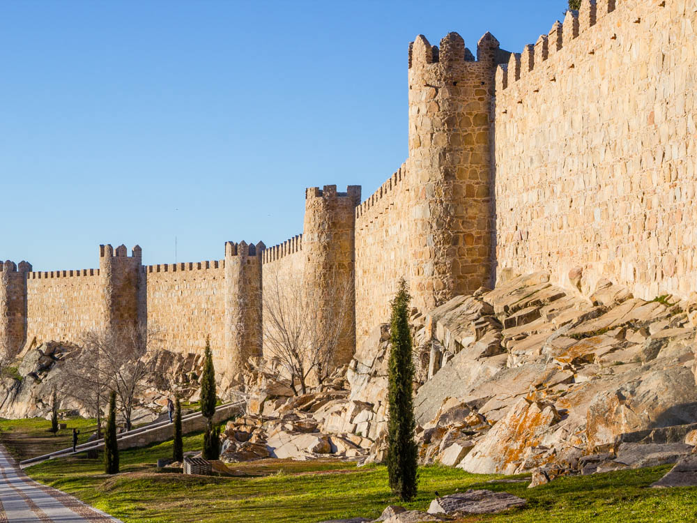 City walls in Avila