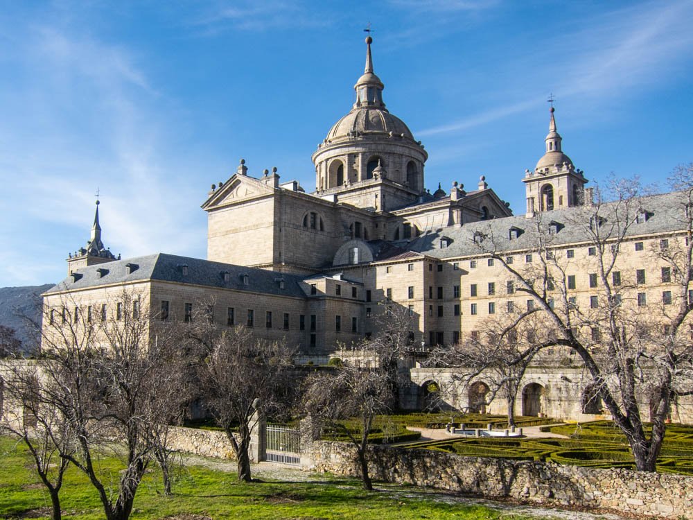 back view of the Escorial monastery