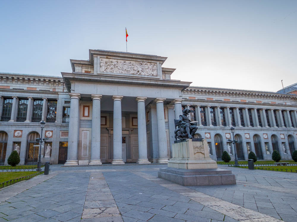 Entrance of the Prado Museum